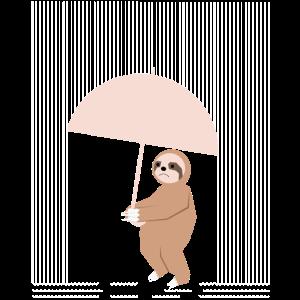 Trauriges aber liebes Faultier Regen Lustige Tiere