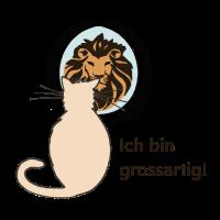 Grossartig, Löwe, Katze