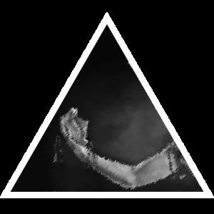 Dreieck Arm mit Gesicht in der Hand