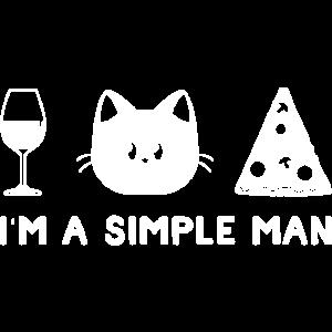 Wein Katze Pizza Weinliebhaber Katzenliebhaber