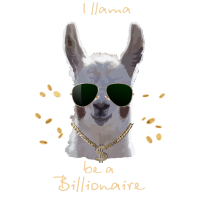 cooles Lama mit Sonnenbrille - Llama Geschenkidee