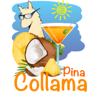 Pina Collama - lustiger Lama Cocktail Spruch
