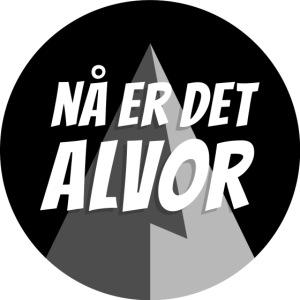 NÅ ER DET ALVOR Logo svar