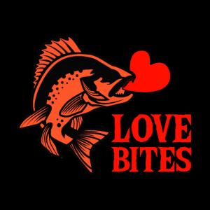 Love Bites Fish Heart Valentinstag Geschenkidee