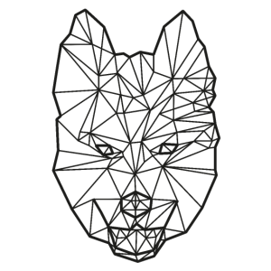 Geometrischer Husky Polygon Design