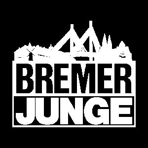 Bremer Junge Weiss Bremen Silhouette Geschenk
