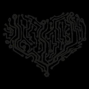 Computer Heart black