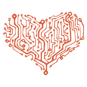Computer Heart red