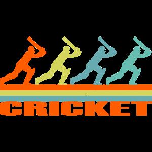 Cricket Spieler Retro Geschenk