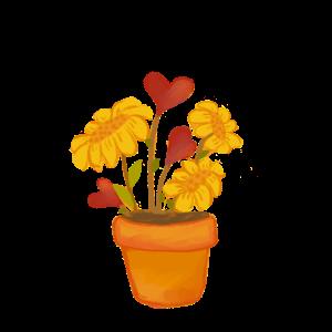 Blumentopf mit Liebe