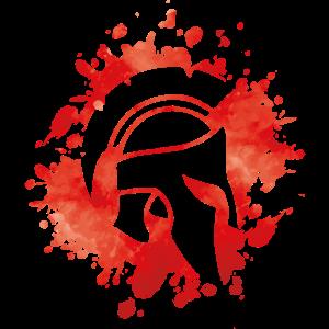 spartaner helm spartan klecks krieger