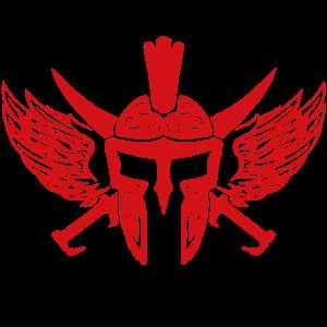 spartaner helm sparta flügel