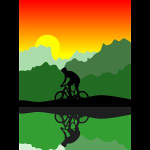 Biker Sonnenuntergang