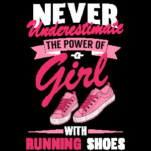 Geschenk für Läuferin A Girl with Running Shoes