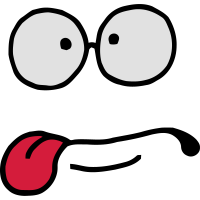 Gesichts-Serie: freche Gebärde