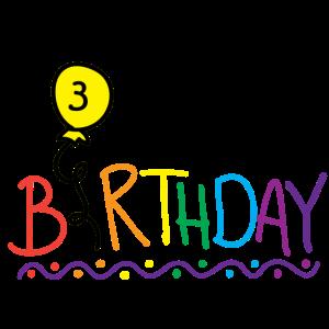 Es ist mein Geburtstag, ich habe 3