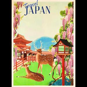 Vintage Reise Poster Japan