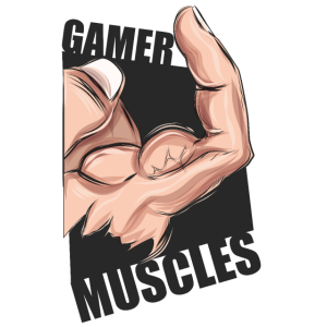 Gamer Muscles TShirt Geschenk