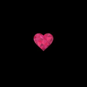 Herzschlag EKG Polygon Herz Liebe Paare rot