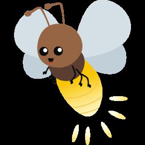 Fliegender Leuchtkäfer Glühwürmchen Cartoon