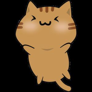 Netter glücklicher Brown Katzen-Karikatur