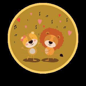 Liebende Löwen Valentinstag