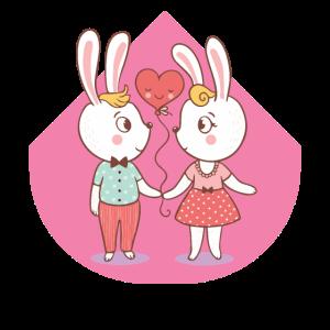 Liebende Hasen Valentinstag