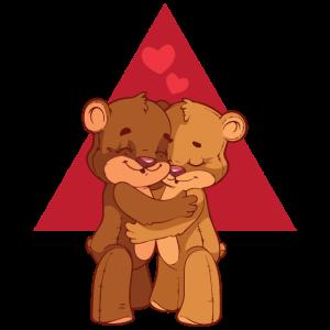 Liebende Bären Valentinstag