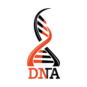 DNS DNA Strang Logo Orange Schwarz