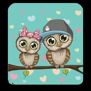 Liebende Eulen Valentinstag