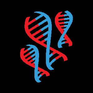DNS DNA Strang Logo Rot Blau