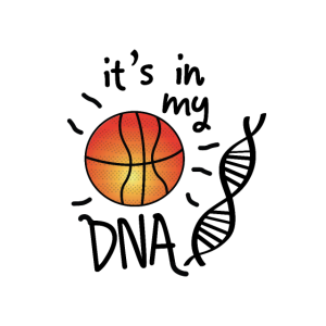 Basketball Es ist in meiner DNA Logo Sport