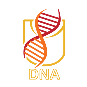 DNS DNA Strang Logo Rot Orange
