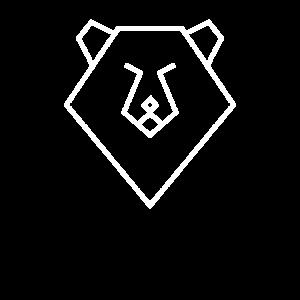 Minimalist Bär Polygon Design Tier Geschenk