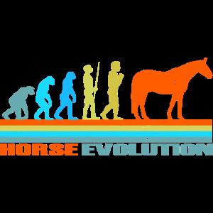 pferd Evolution retro Geschenk