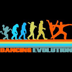 Tanzen Evolution retro Geschenk