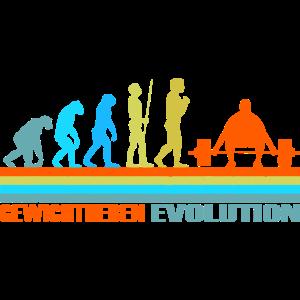Gewichtheben Evolution retro
