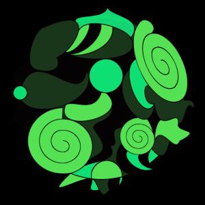 Kreis mit Formen grün