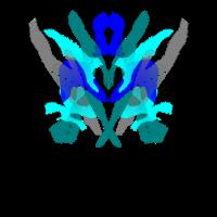 Abstraktes Muster tuerkis blau, frisches T-shirt
