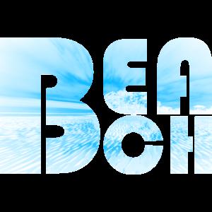 BEACH Schrift Schriftzug