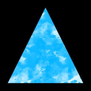 Blaues Dreieick
