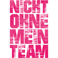 nicht ohne mein team pink