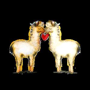 Lama Love - Valentinstag Lama oder Alpaka mit Herz