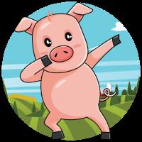 Dabbing Pig   Tanzen Bauernhof Schwein Schweinchen