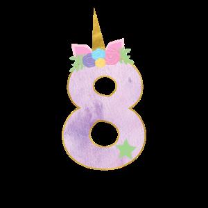 8.Geburtstag Einhorn Zahl 8 Jahre Mädchen Geschenk