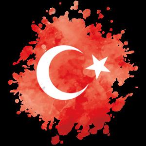 türkei fahne klecks