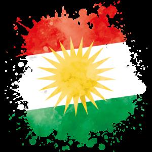 kurdistan fahne klecks