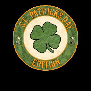 St. Patricks Day Vintage Shamrock Kleeblatt 2019