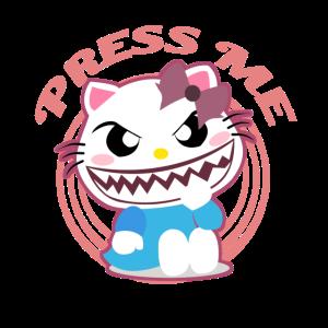 Süße Katze Niedlich Böse Zähne Drück Mich