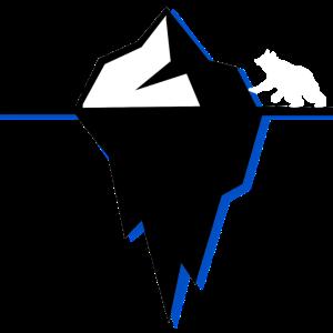Polar Eisberg Mit Eisbär Winter